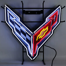 2020 racing flags Neon sign Corvette Stingray C8 wall lamp light Chevy Chevrolet