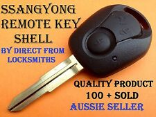 Brand New Ssangyong 2 Button Remote Key Shell to suit Actyon, Kyron & Rexton