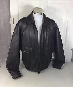 ST JOHNS BAY Leather Jacket Lined Mens Medium