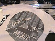 PALACE SKATEBOARDS FW16 TRI CURTAIN MEDIUM WHITE T-SHIRT TEE M TRI FERG GREY