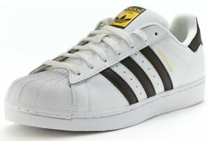 ADIDAS MENS ORIGINALS SUPERSTAR CLASSIC TRAINERS 3 STRIPE SPORTS SHOES SNEAKERS