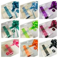 Hamper Wrapping Kit - 3m Clear Cellophane with Large Bow & 25m Curling Ribbon