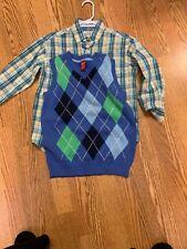 Boys Izod Sweater Vest Shirt Bundle Size Small