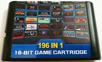 196 In 1 Multi Game Card Cartridge For 16 Bit Sega Genesis MD With Fast Shipping