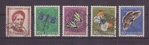 Schweiz 561-65 gestempelt