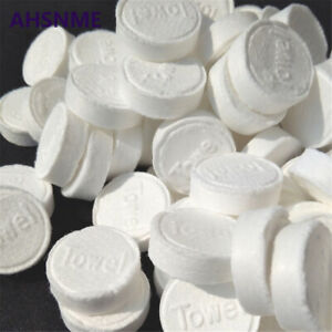 50X Portable Disposable Magic Compressed Towel Toilet Paper Tablet Coin Tissues