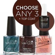 CND VINYLUX Weekly Polish 15ml - Any 3 Colours + Top Coat