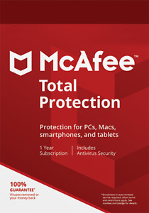 McAfee Total Protection 1 Device, 1 Year subscription. Latest Version.