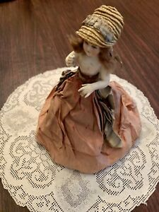 ANTIQUE GERMAN PORCELAIN HALF DOLL PERFUME BOTTLE