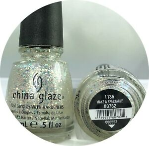 China Glaze Nail Polish Make A Spectacle 1135 Sheer Multi-hued Glitter Wicked