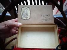 "Ancienne Boite de Confiserie en Carton Kraft "" Truffes de Chambéry'  l'Allobroge"