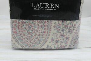 Ralph Lauren Home Claudia Paisley KING Duvet Cover & Shams Set Cotton Multi $385