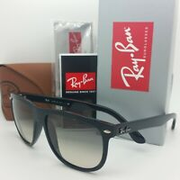 NEW Rayban Sunglasses RB4147 601/32 56mm Highstreet Gloss Black Grey Gradient