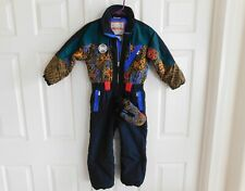 OBERMEYER SIDE KICK One Piece Skiing Coveralls SKI SNOW SUIT and MITTENS Kids 6