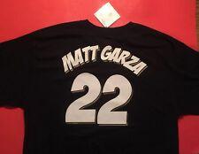 MATT GARZA #22 MILWAUKEE BREWERS Black Majestic T-Shirt Jersey Men's XL Vtg $35