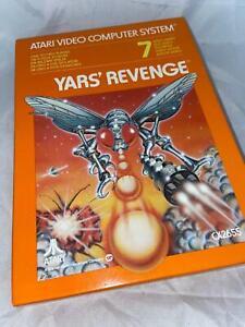 Atari 2600 VCS Original Yars Revenge Open Box Cartridge Video Game 1981
