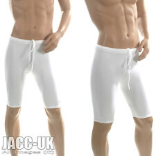 New Mens S White VIGA Lycra Cotton Cycle Gym Shorts Jammer Running Sport RUN.204
