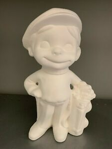 Large Golf Golfer Smiley *Ceramic Bisque Ready to Paint