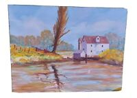 Oil On Board Painting Signed William L. Brittingham Essex Stream Impressionist