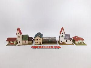 CT210-1# 5x H0 Kirche/Gärtnerei/Haus, leichte Mängel: 236 etc, Faller/RS/Vau-Pe