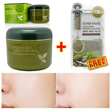 [Farmstay] Green Tea Seed Whitening Water Cream 100g + Snail 3D Face Mask Pack