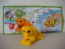 Figurine Kinder série animaux Natoons Lion modèle n°DC019 avec bpz