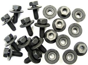 Toyota Body Bolts & Barbed Nuts- M6-1.0 x 16mm Long- 10mm Hex- 20 pcs- #376