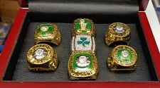 Boston Celtics - 7 Championship NBA Ring Set With Wooden Display Box