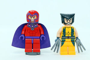 LEGO Marvel Super Heroes Wolverine & Magneto minifigures (from Chopper 6866)