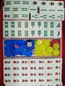 USED 146 Tiles Chinese Mahjong Majian Set Family Game Boys & Girls 家庭式麻将牌