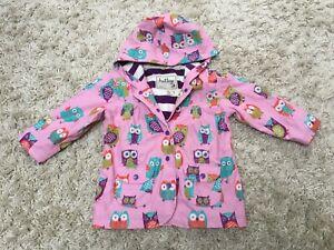 Hatley Girls Pink Party Owls Raincoat Jacket 3 Years VGC