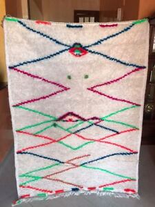 nice moroccan multicolored handmade berber rug of wool azilal carpet