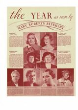 VINTAGE 1934-35 SIXTEEN WOMEN OF THE YEAR GRETA GARBO AMELIA EARHART AD PRINT