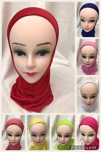 Muslim Kids Girls Childrens Kids Islamic Hijab School Stretchy Lycra One Piece