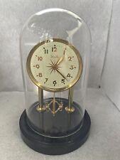 Meiko Windup Anniversary Clock with Glass Dome