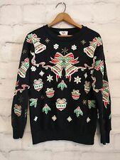 Women's NutCracker Ugly Christmas Sweatshirt Real Bells size Small