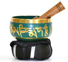 TIBETAN Meditation SINGING BOWL MALLET CUSHION ( GREEN ) HEART Chakra Yoga