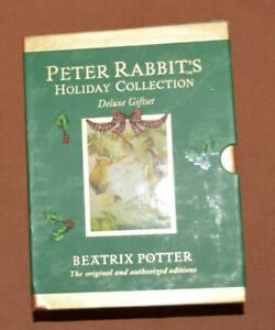 Beatrix Potter Holiday Collection Box Four books of Peter Rabbit  Box Set
