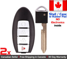 2x Replacement Keyless Entry Remote Key Fob SHELL Engine Start For Nissan Rogue