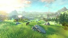 Hyrule Landscape  - The legend of Zelda New - Wall Poster ( 34 in x 22 in )