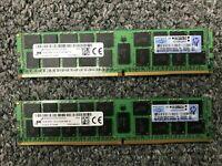 Lot 2X 16GB 32GB DDR4 2Rx4 PC4-2133P ECC Reg 288Pin Server Ram 774172-001