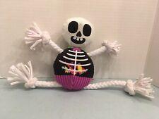 Barkbox Bark Brand BARRY BONES Rope Skeleton Dog Squeaker Toy Pre Owned