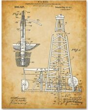 Spindletop Oil Drilling Rig - 11x14 Unframed Patent Print - Petroleum Business