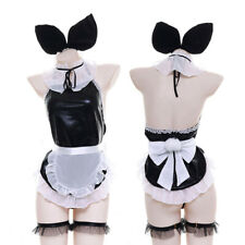 Bunny Girl Japanese Backless Apron Dress Lolita Sleepwear Sexy Lingerie Pajamas