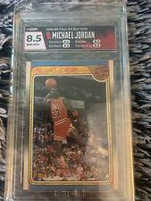 1988-89 fleer # 120 michael jordan all-star team, GRADED by HGA NM/MINT+ 8.5