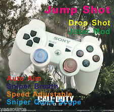 New COD Flashing LED PS3 Modded Rapid Fire White Controller Jitter Quick Scope