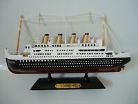 Model Titanic Ship On Stand Made From Wood with lots of detail - Maritime Boat m