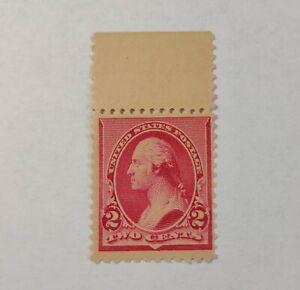 US Stamp Scott #220 MNH F/VF OG : 1890 Washington 2¢ Dark Carmine Cat. Value $60