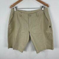 Hemp Braintree Mens Shorts 32 Beige Zip Closure Pockets