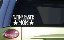 Weimaraner Mom *H892* 8 inch Sticker decal quail pointer bird hunting vest